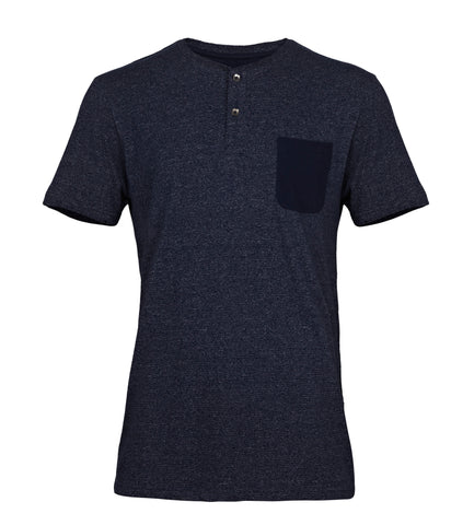 SOUTH CROSS Navy Blue Pocket Tee