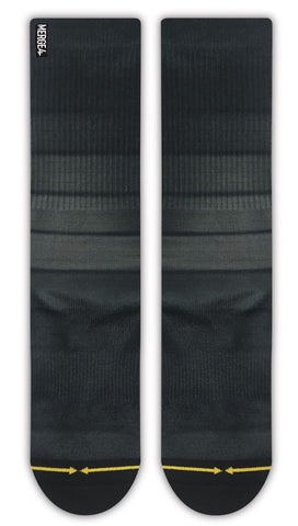 Black Fade Stripes - Classic Crew Sock