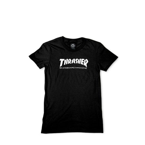 THRASHER MAG LOGO GIRLS SS BLACK