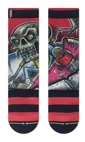 Bobby Brown Pool Sesh - Red Classic Crew Sock