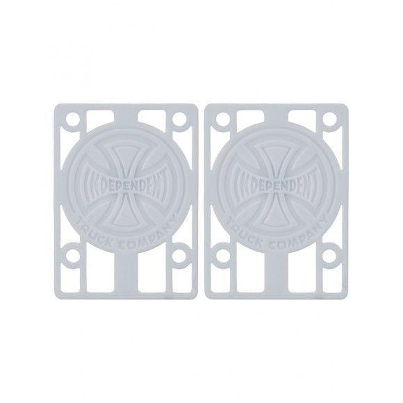 "INDIE GENUINE PARTS 1/8"" RISER SET WHITE"