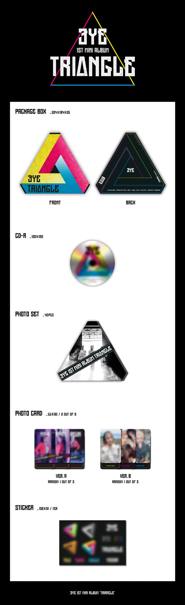 3YE 1st Mini Album - TRIANGLE CD