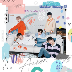 AWEEK 2nd Single Album - BETTER TODAY CD + Poster