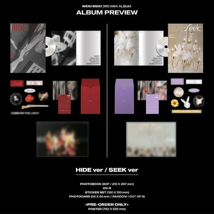 Weki Meki 3rd Mini Album - HIDE and SEEK (SET Ver.) 2CD + 2Poster