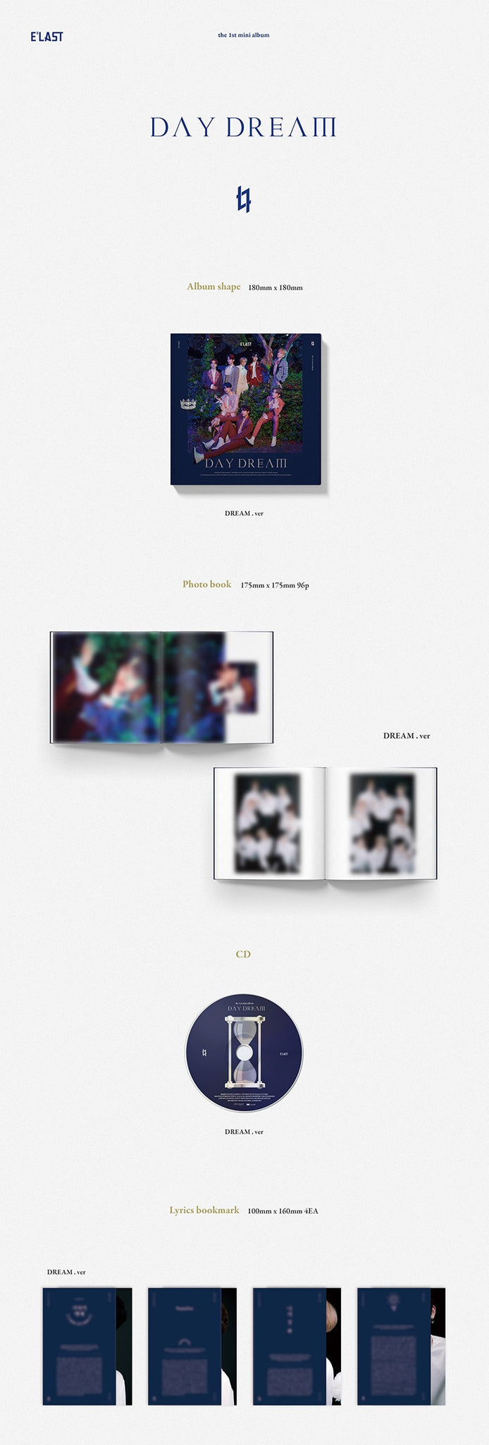 E'LAST 1st Mini Album - Day Dream (Dream ver.) CD + Poster