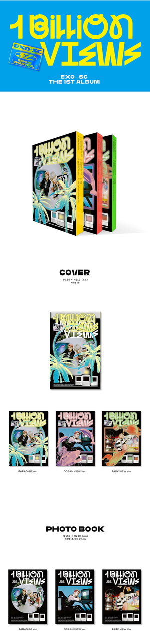 EXO-SC 1st Album - 10 Billion View (SET Ver.) 3CD + 3Poster