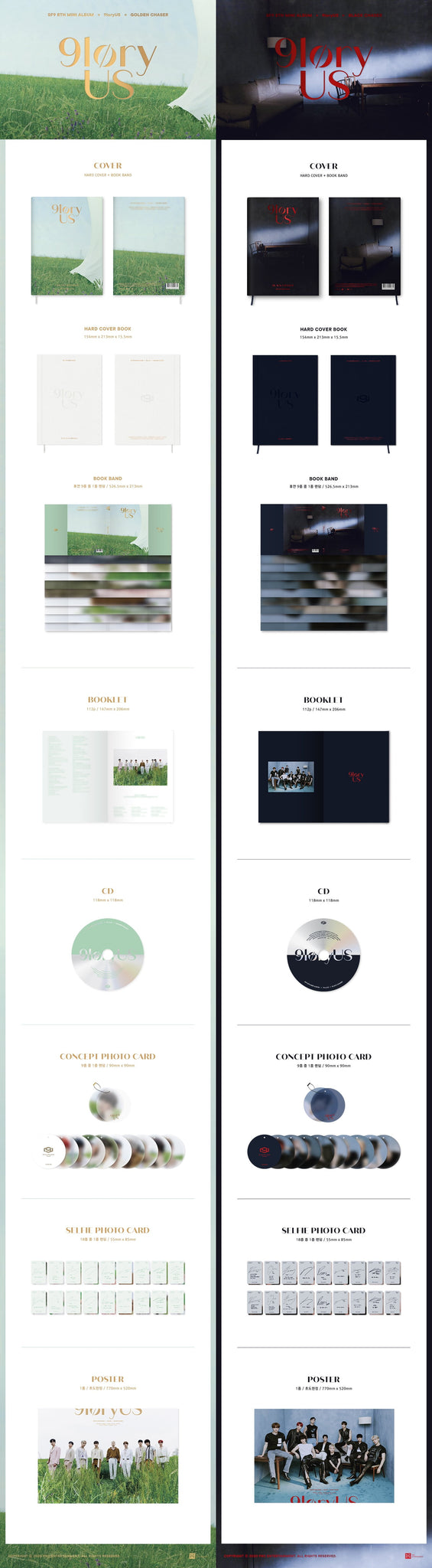 SF9 8th Mini Album - 9LORYUS (SET Ver.) 2CD + 2Poster