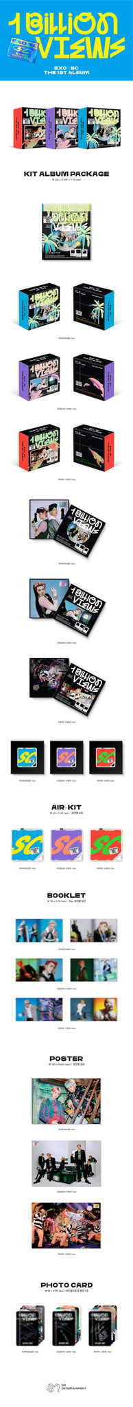 EXO-SC 1st Album - 10 Billion View (SET Ver.) 3Air-KiT + 3Poster
