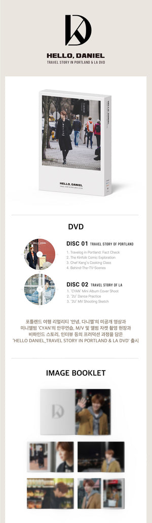 KANG DANIEL - HELLO, DANIEL : TRAVEL STORY IN PORTLAND & LA DVD(2DISC)