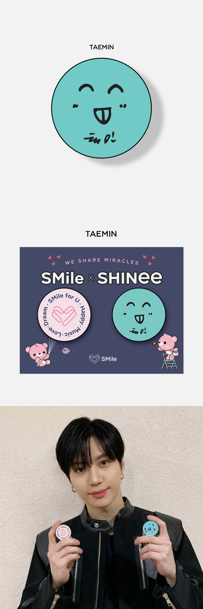 SHINee SMile for U Goods - GRIP TOK