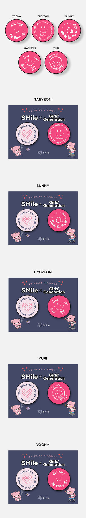 GIRLS GENERATION SMile for U Goods - GRIP TOK