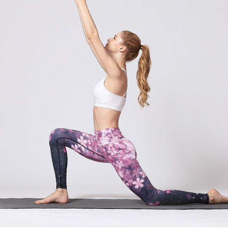 Sweet Flower Yoga Pants