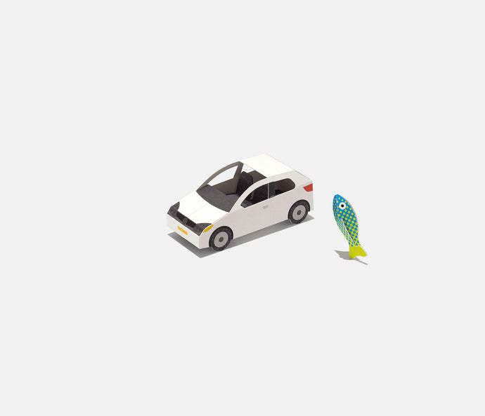 city car & fish figure