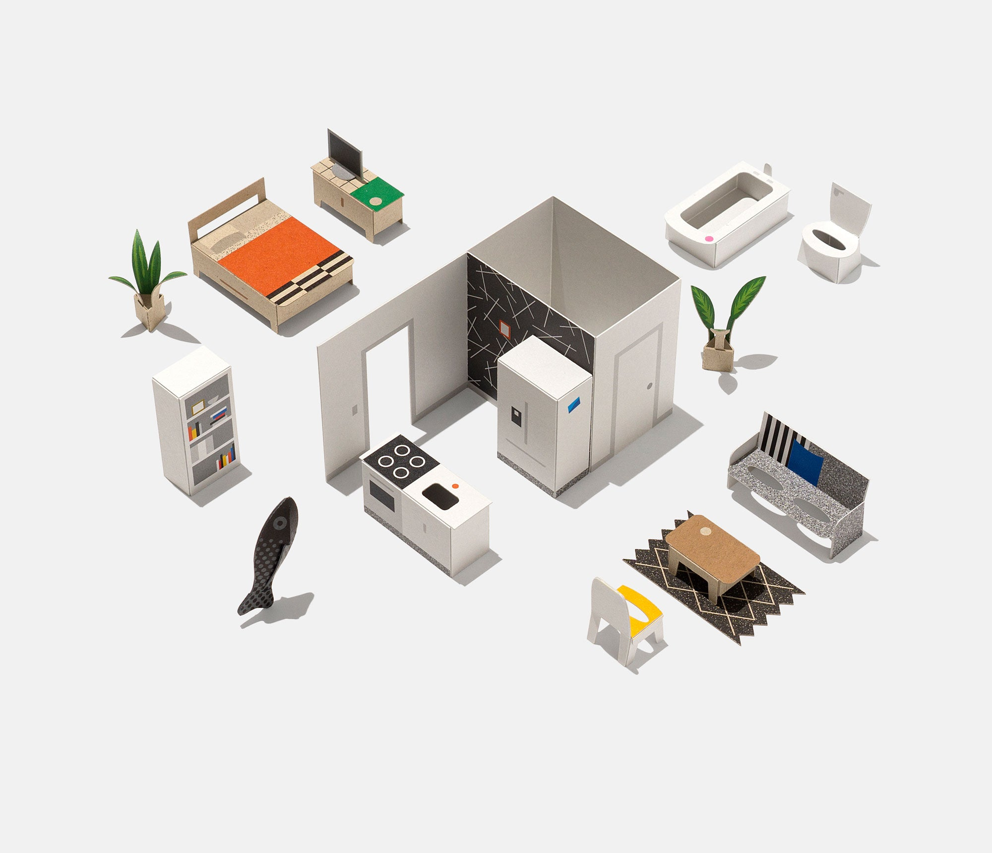 modern furniture & fish figure