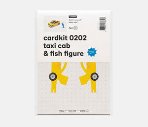 taxi cab & fish figure