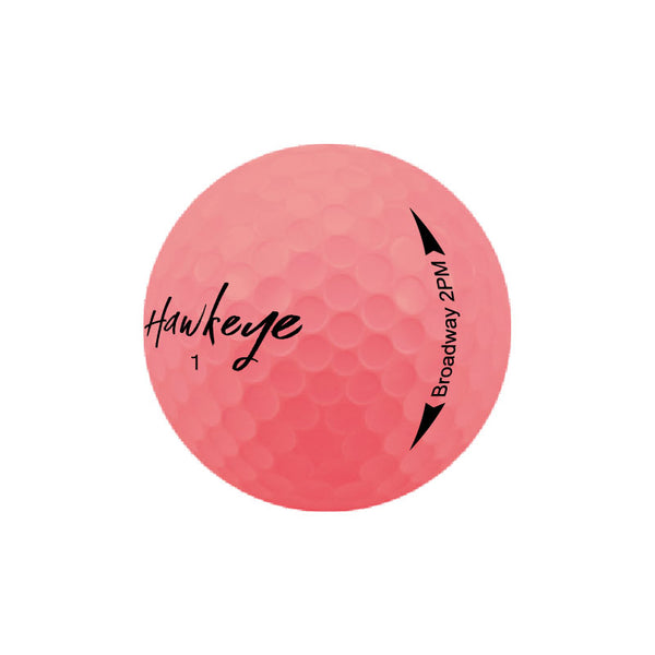 Broadway 2PM 2 Piece Matte Surlyn Neon Rose Pink Golf Balls