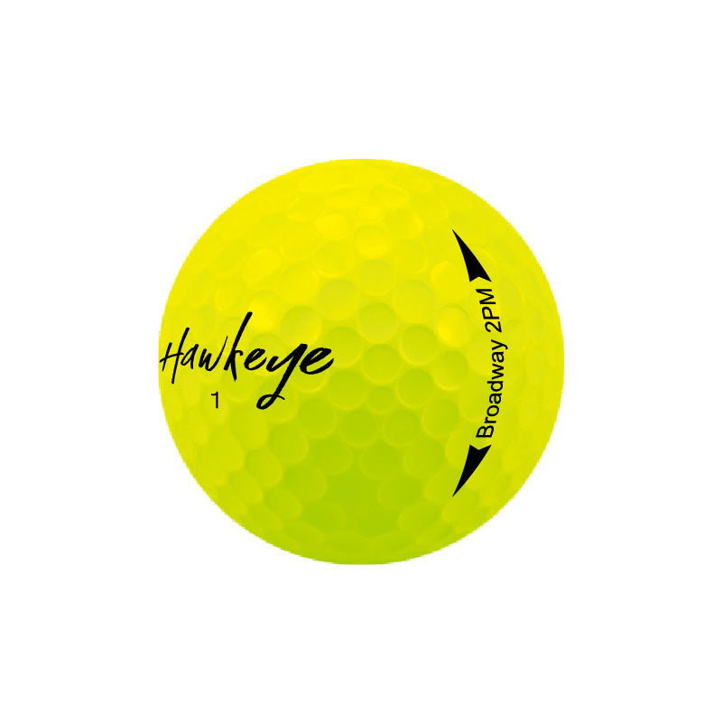 Broadway 2PM 2 Piece Matte Surlyn Spotlight Yellow Golf Balls