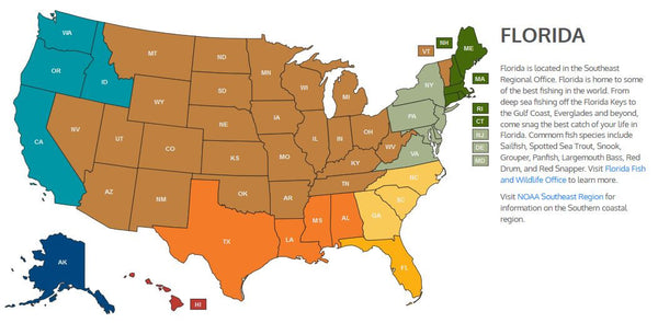 USA Fisheries Map