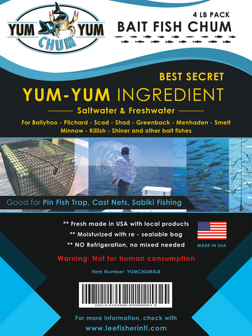 """Yum Yum Chum"" Bait Fish Chum - Attract Bait"