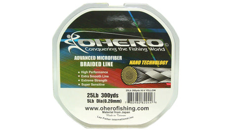 Ohero Advanced Microfiber Braided Fishing Line 300 Yard Spool