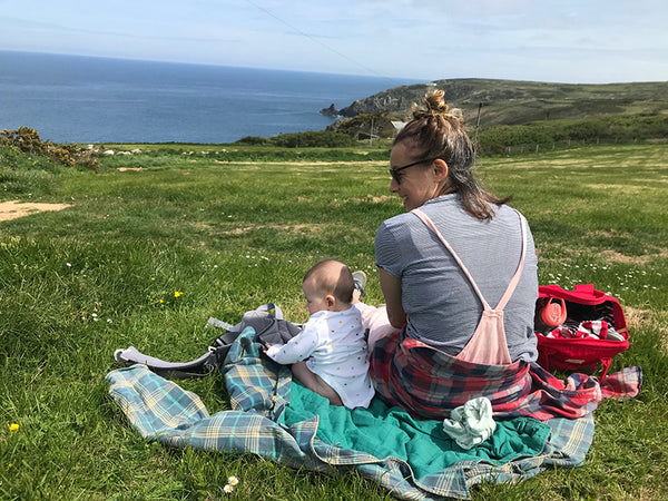 Elfa and Emma on the Cornish Coast