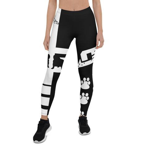 Blk dog lovers Leggings
