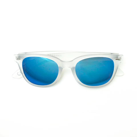 Corbs  - Crystal frame with Electric Blue PENTOPTIC®️ Lens