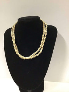 "16"" Plain 5mm Round Tulasi Neckbeads - Two Rounds"