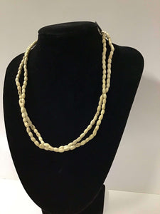 "18""Plain4mm Oval Tulasi Neckbeads - Two Rounds"