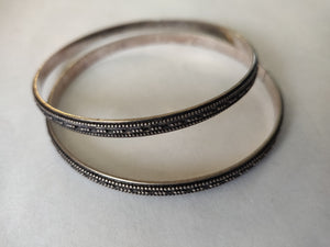 Pure Silver Bangle (pair)