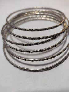 Pure silver Bangle(Set of 6)
