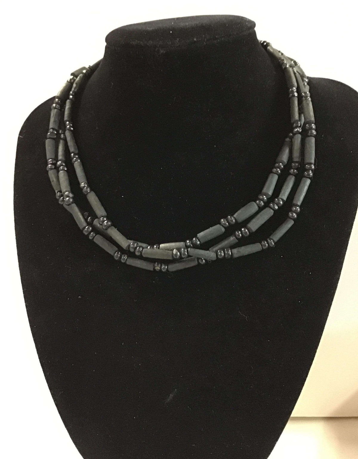 Black Tulasi Neckbeads - Three Rounds