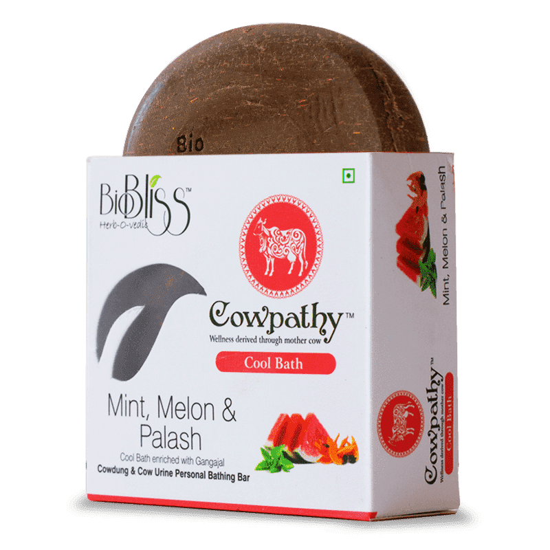 Cowpathy - Mint, Melon and Palash 75g (Cool Bath)