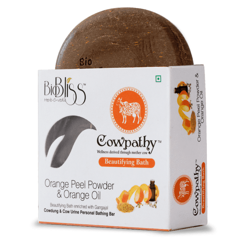 Cowpathy - Orange Peel Powder and Orange Oil 75g (Beautifying Bath)