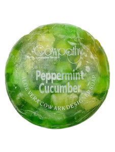 Cowpathy - Peppermint Cucumber Designer Soap 100g