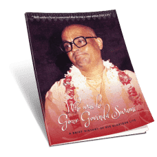 Gour Govinda Swami – Who Was He