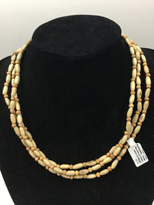 Oval Tulasi Neckbeads - Three Rounds