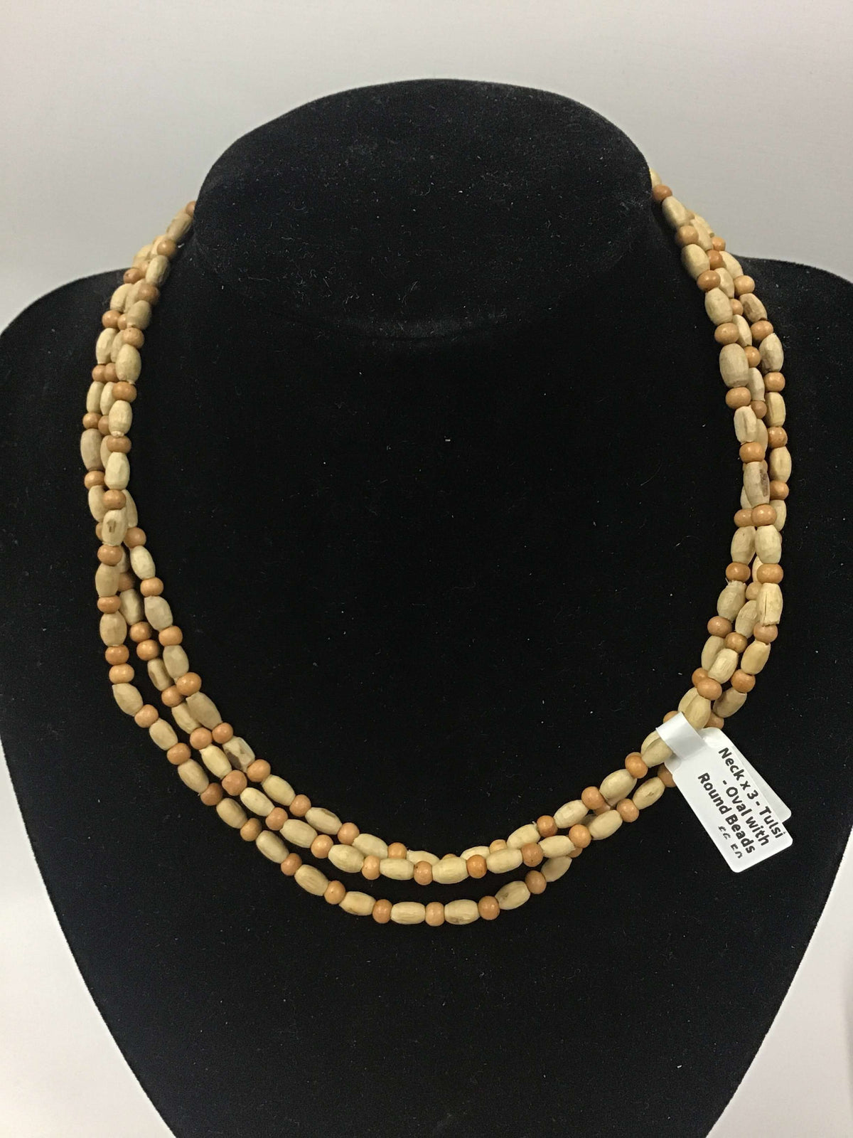Neck x 3 - Tulsi - Oval with Round Beads