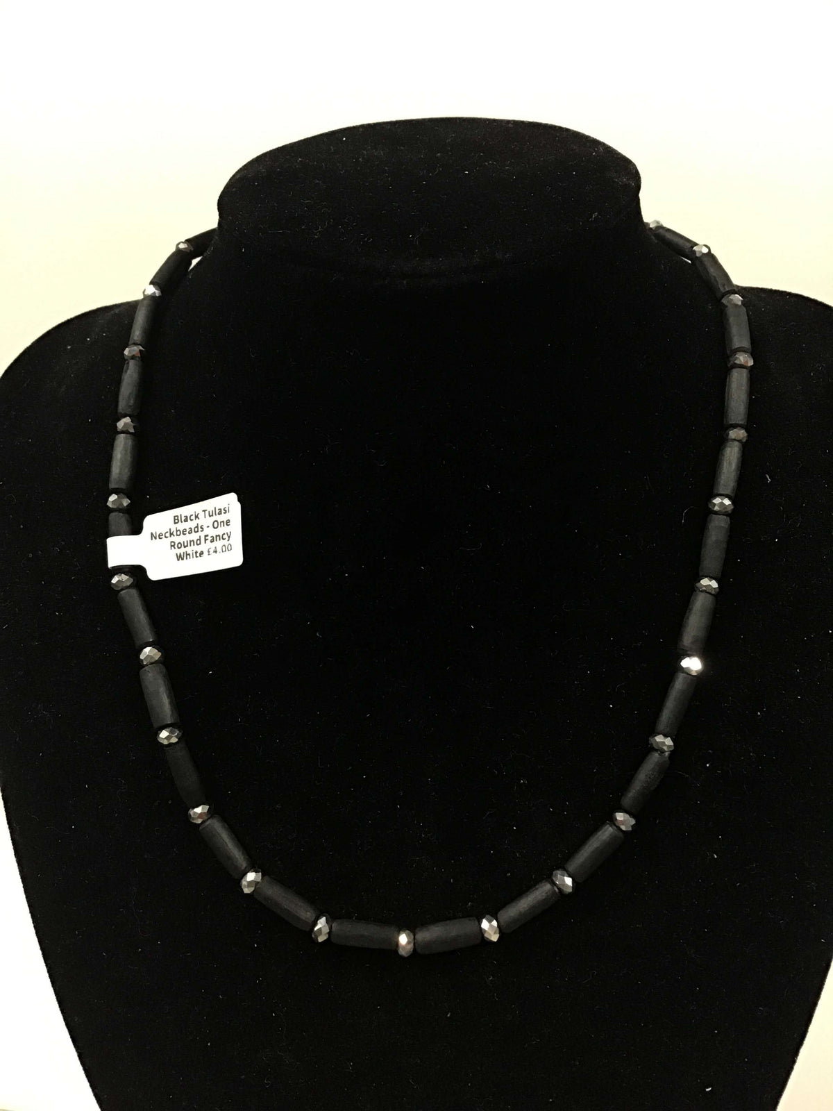 Black Tulasi Neckbeads - One Round Fancy