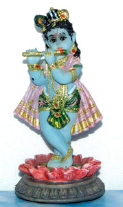 "Krishna On Lotus - 5"" Murti"