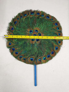 M Peacock Feather Fan