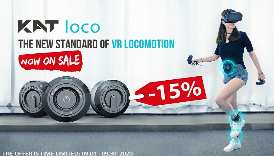 KAT loco VR Locomotion System Now on Sale!