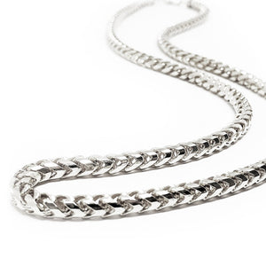 4mm Diamond Cut Franco Chain - 14k White Gold
