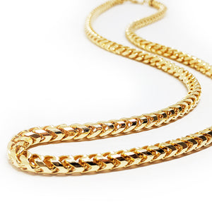 3mm Diamond Cut Franco Chain, Gold