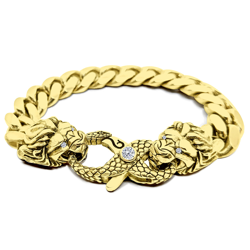 13mm Solid Miami Cuban Link Bracelet
