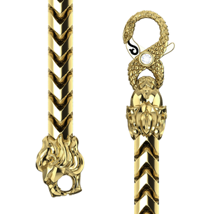 4mm Diamond Cut Franco Chain, Gold