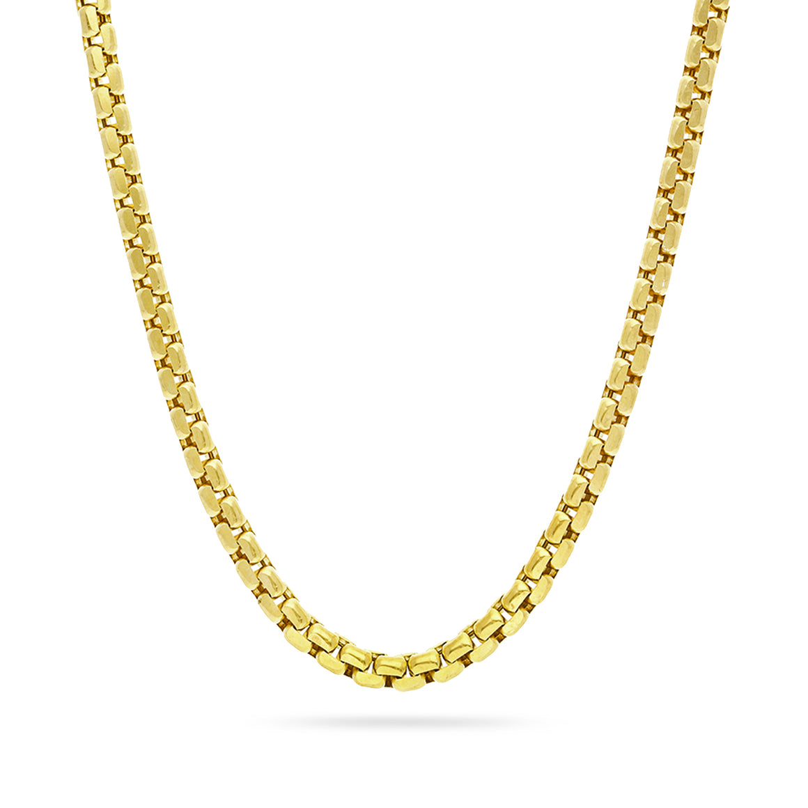 3mm Round Box Chain, Gold