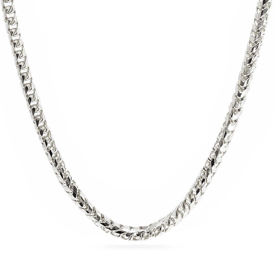 3mm Diamond Cut Franco Chain - 18k White Gold