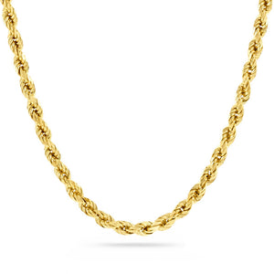 4mm Diamond Cut Rope Chain, Gold