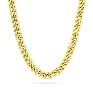 5mm Cuban Link Chain, Gold